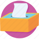 box, napkin, tissue, tissue box icon