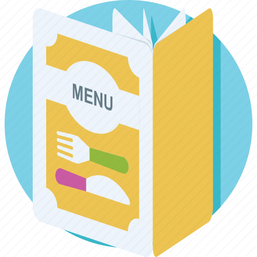 cuisine, deal, food menu, menu, menu book icon