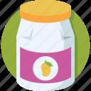 jam jar, jar, mango, mango jam, marmalade icon
