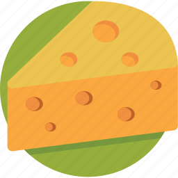 cheese, cheese block, cheese piece, cheese portion, dairy product icon