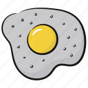 breakfast, egg, egg frying, food, fry egg icon