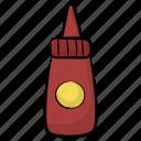 ketchup bottle, spaghetti sauce, tomato ketchup, tomato paste, tomato sauce icon