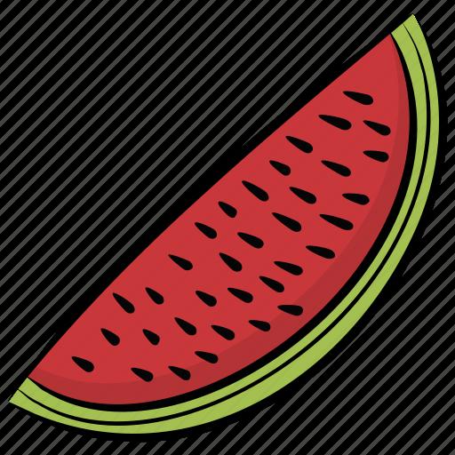 food, fruit, healthy food, watermelon, watermelon slice icon