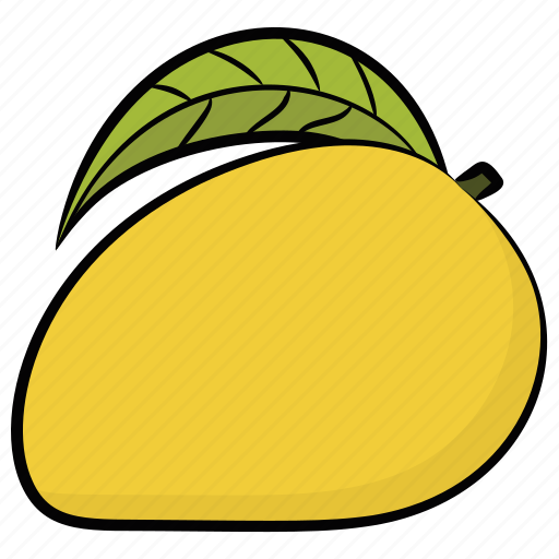 Fruit, healthy diet, mango, ripe mango, yellow fruit icon