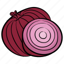 bulb onion, common onion, diet, onion, vegetable icon