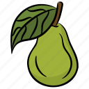 fruit, healthy diet, natural food, pear icon