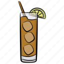 cold drink, drink, fizzy drink, juice, tropical juice icon