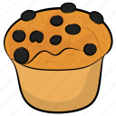 bakery food, cupcake, dessert, muffin, tea snack icon