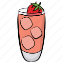 fruit juice, fruit smoothie, juice, nectar, strawberry juice icon