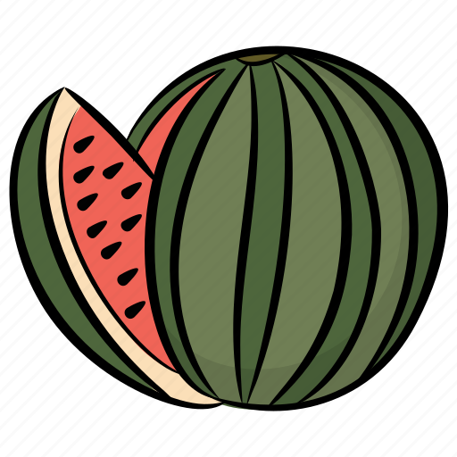 Food, fruit, healthy food, watermelon, watermelon slice icon - Download on Iconfinder