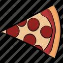 edible, fast food, pizza slice, savoury dish, snack
