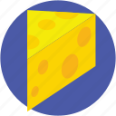 cheese, cheese block, dairy product, cheese piece icon