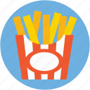 french fries box, fries box, potato fries, french fries, frites icon