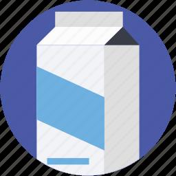 milk box, milk carton, milk container, milk pack, packaged food icon