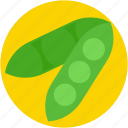 food, legume, vegetable, peas, healthy diet icon