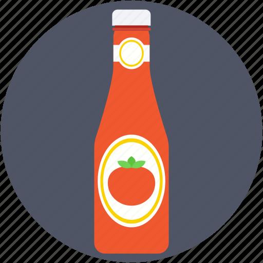 ketchup, ketchup bottle, spaghetti sauce, tomato paste, tomato sauce icon