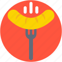 barbecue fork, barbecue sausage, bbq, hotdog, sausage icon