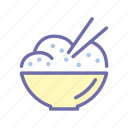 bowl, food, meal, noodles icon