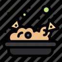 food, junk, nachos icon