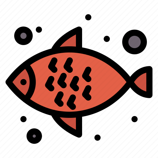 fish, food, sea, water icon
