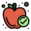 apple, food, healthy, meal icon