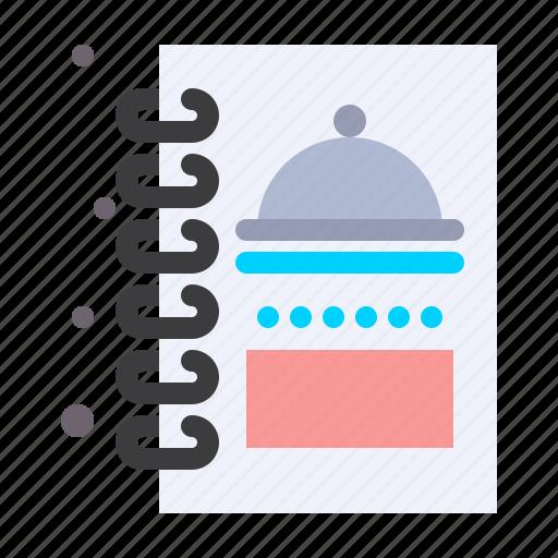 book, food, kitchen, menu icon