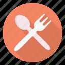 fork, kitchen, restaurant, spoon, utensils
