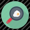 breakfast, egg, fried, fryingpan, omelette