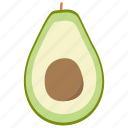 avocado, food, vegetables icon