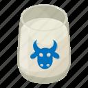 beverage, drink, food, glass, isometric, milk, object