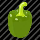 food, fresh, green, healthy, isometric, object, pepper