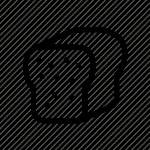 bake, bakery, bread, toast icon