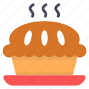 hot pie, apple pie, baked pie, food dessert, hot dessert icon