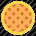pie, apple pie, baked pie, food dessert, hot dessert icon