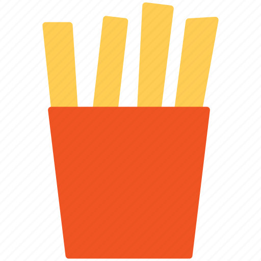 chips, french fries, fried potato, fries icon