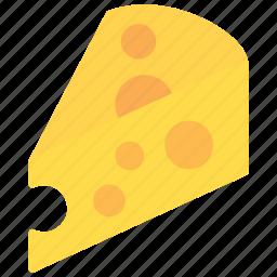 cheese, slice, sweet, tasty icon
