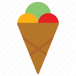 cornet, ice cream cone, icecream, sucker icon