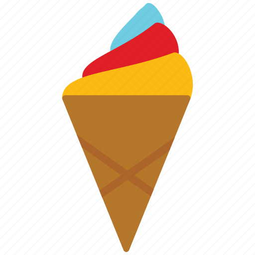 cone, cornet, ice cream, icecream icon