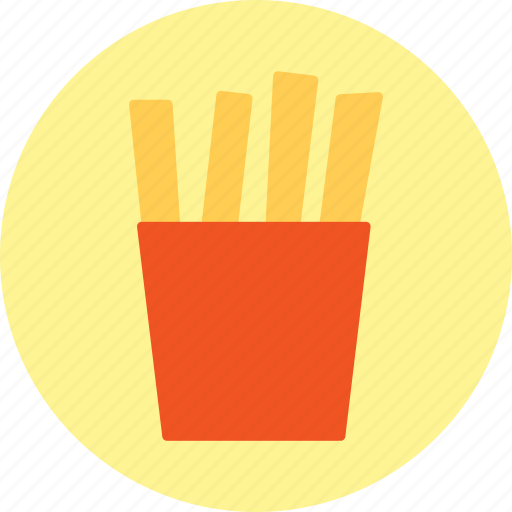 chips, french, fries, potatoes icon