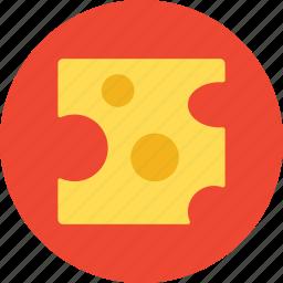 cheese, food, slice, tasty icon