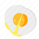 breakfast, egg, food, sunny icon