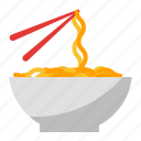 bowl, chopstick, food, noodle icon