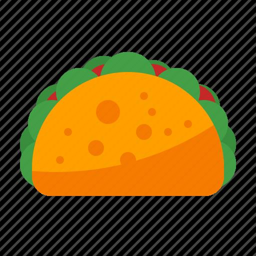food, junk, snack, taco icon