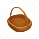 basket, empty, farm, fruit, fruits icon