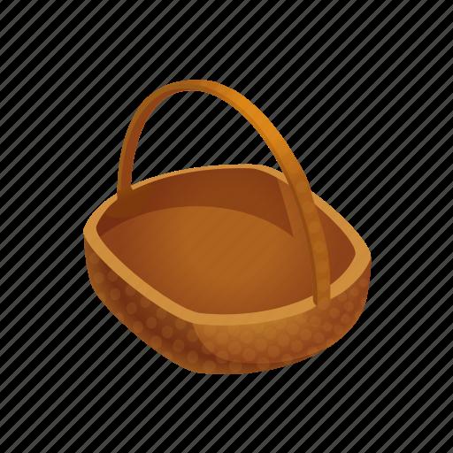 basket, empty, farm, fruit, fruits icon