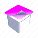 cup, food, yogurt icon