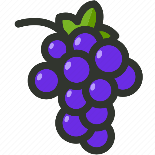 bunch, food, fruit, grape, grapes icon