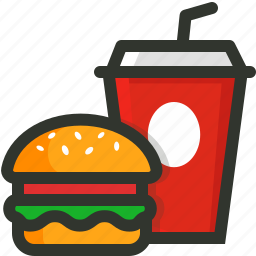 burger, drink, fast, food, junk icon
