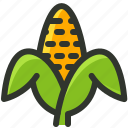 corn, food, fruit, husk, maize, sweetcorn icon
