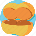 coconut, healthy food, nutrition, tropical fruit icon